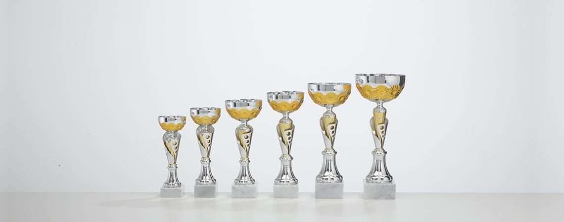 Pokal Malaga - Gold und Silber