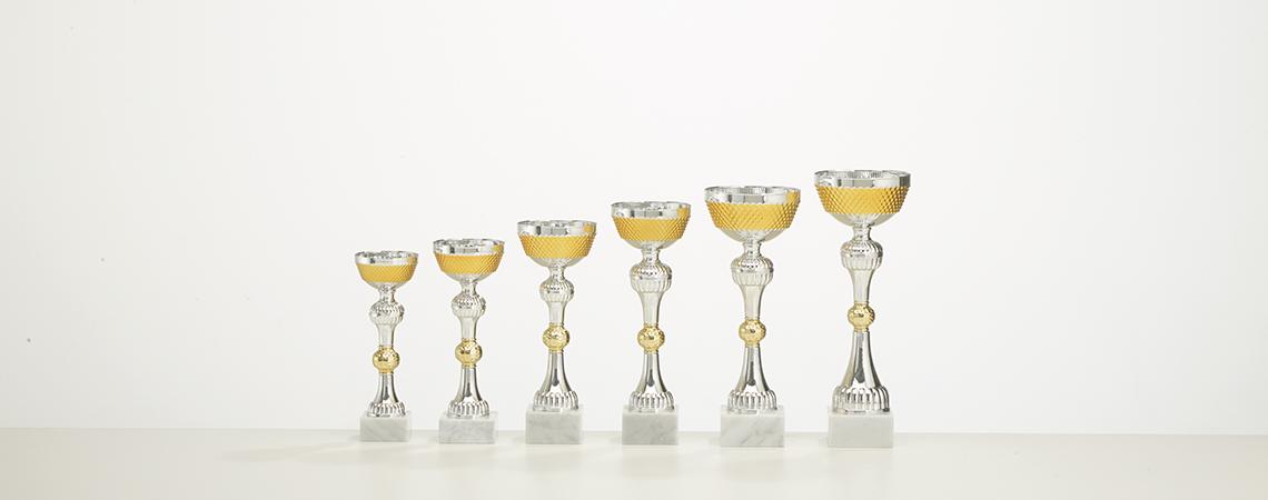 Pokal Neapel - Gold und Silber