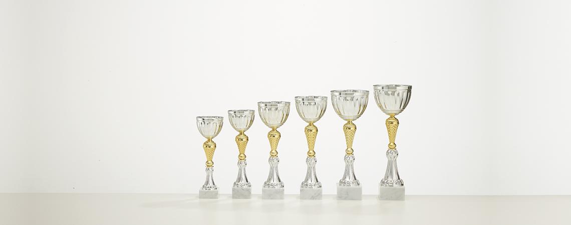 Pokal Vaduz - Gold und Silber