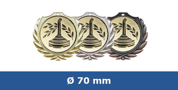 Medaillen 70 mm