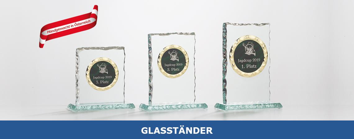 Glasständer Übersicht Produkte